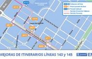 Mejoras y cambios de itinerarios en las líneas 142 y 145 de la EMT