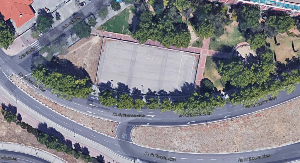 Vista aérea de las pistas