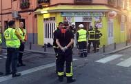 Explosión en la cocina de un bar en Vallecas