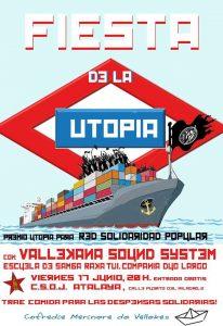 Cartel de la Fiesta de la Utopía 2016