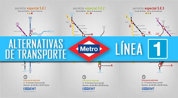 Alternativas de transporte durante el cierre de la Línea 1