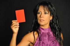 """Cristina del Valle en la campaña """"Saca tarjeta roja al maltratador"""""""