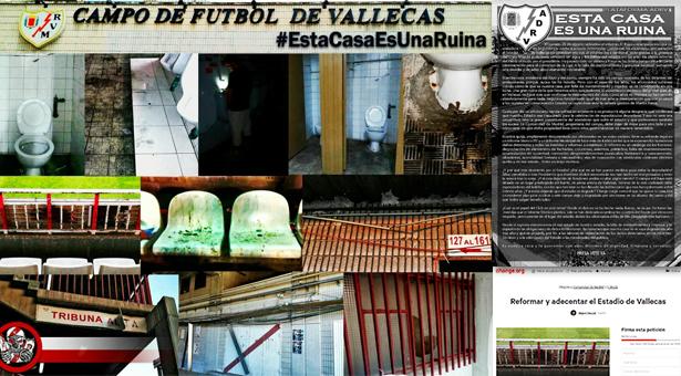 Serios problemas en el Estadio de Vallecas - Esta Casa es una Ruina