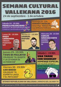 Semana Cultural Vallekana 2016
