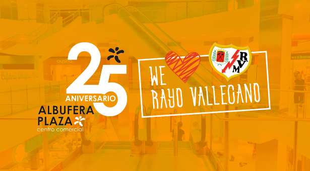 El Centro comercial Albufera Plaza celebra su 25º Aniversario con regalos, sorteos y visitas de jugadores del Rayo Vallecano
