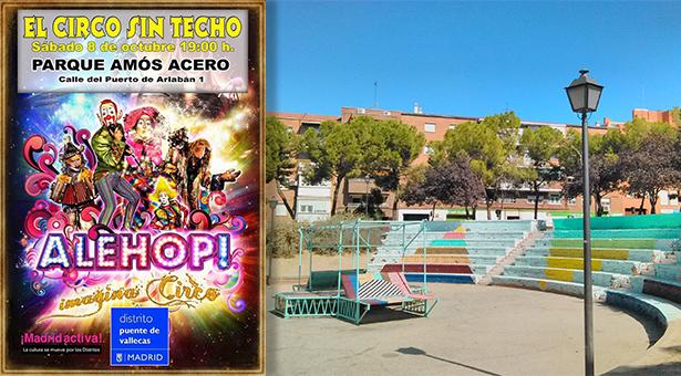 'Circo sin techo' en el parque Amós Acero de Vallecas