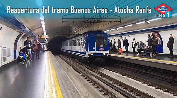 Reapertura del tramo Buenos Aires - Atocha Renfe el próximo 20 de Octubre