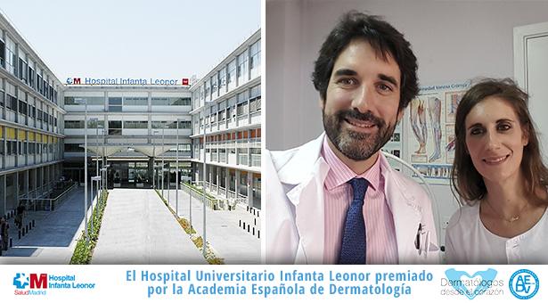 El Hospital Universitario Infanta Leonor premiado por la Academia Española de Dermatología