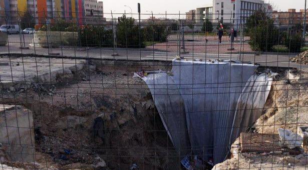 El socavón sin solución del Ensanche de Vallecas