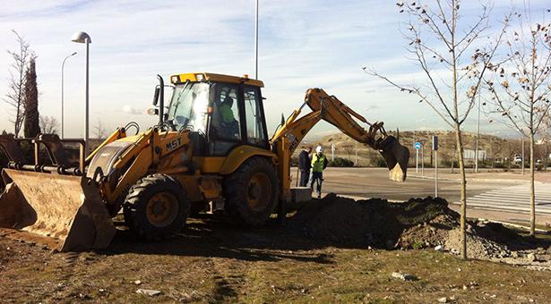 Arranca la instalación de la red de riego del Ensanche de Vallecas