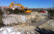 Arrancan las obras de reparación del socavón y el subsuelo del Ensanche de Vallecas