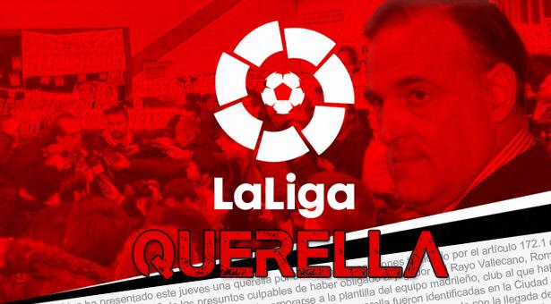 LaLiga se querella contra diez aficionados del Rayo Vallecano