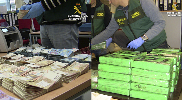 La Guardia Civil interviene 166 kilos de cocaína y más de 400.000 euros en efectivo en el Ensanche de Vallecas