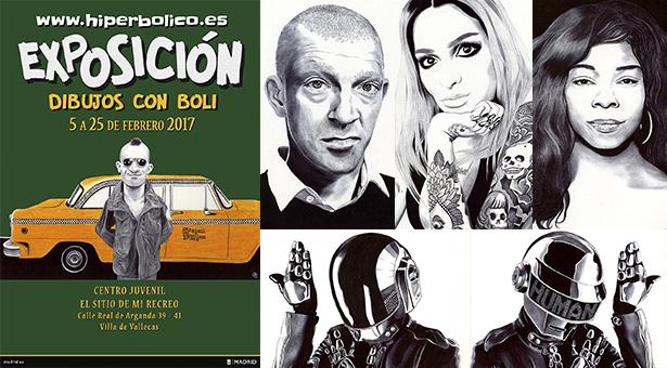 Exposición 'Dibujos con boli' de Hiperbólico