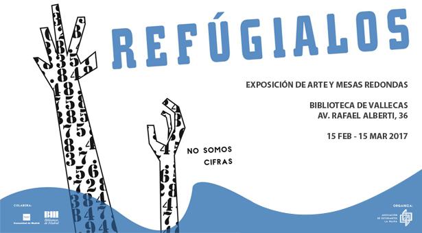 Exposición 'Refúgialos' en la Biblioteca de Vallecas en pro de los derechos de los refugiados