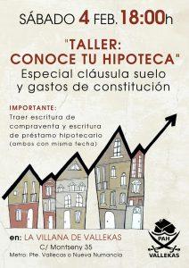 Taller 'Conoce tu Hipoteca' de la PAH de Vallekas