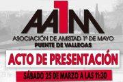 Presentación de la nueva Asociación de Amistad 1º de Mayo Puente de Vallecas