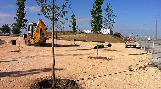 Comienzan los trabajos de rehabilitación y ajardinamiento del parque de la Gavia