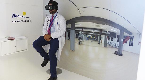 El Hospital Infanta Leonor acoge un proyecto pionero de realidad virtual para normalizar la psoriasis
