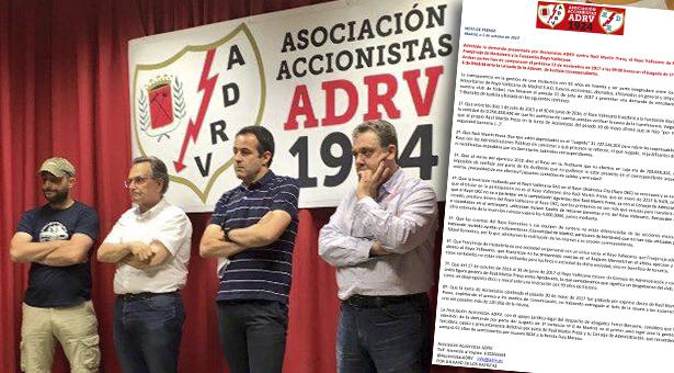 Admitida la demanda de Accionistas ADRV contra Raúl Martín Presa