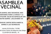Asamblea vecinal y movilizaciones contra el menudeo y la trata en el Puente de Vallecas