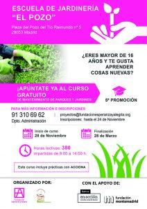 V edición del Curso de mantenimiento de Jardines en el Pozo del Tío Raimundo