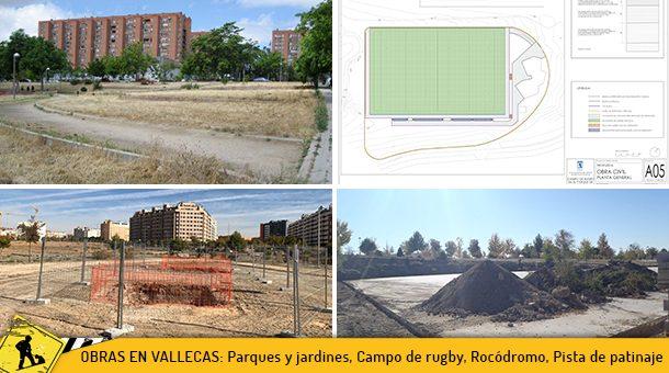 Vallecas está de obras: Parques y zonas verdes, Campo de Rugby, Rocódromo, Pista de patinaje y regeneración de la Cañada Real