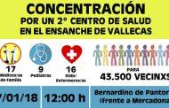 Concentración por un 2º Centro de Salud en el Ensanche de Vallecas