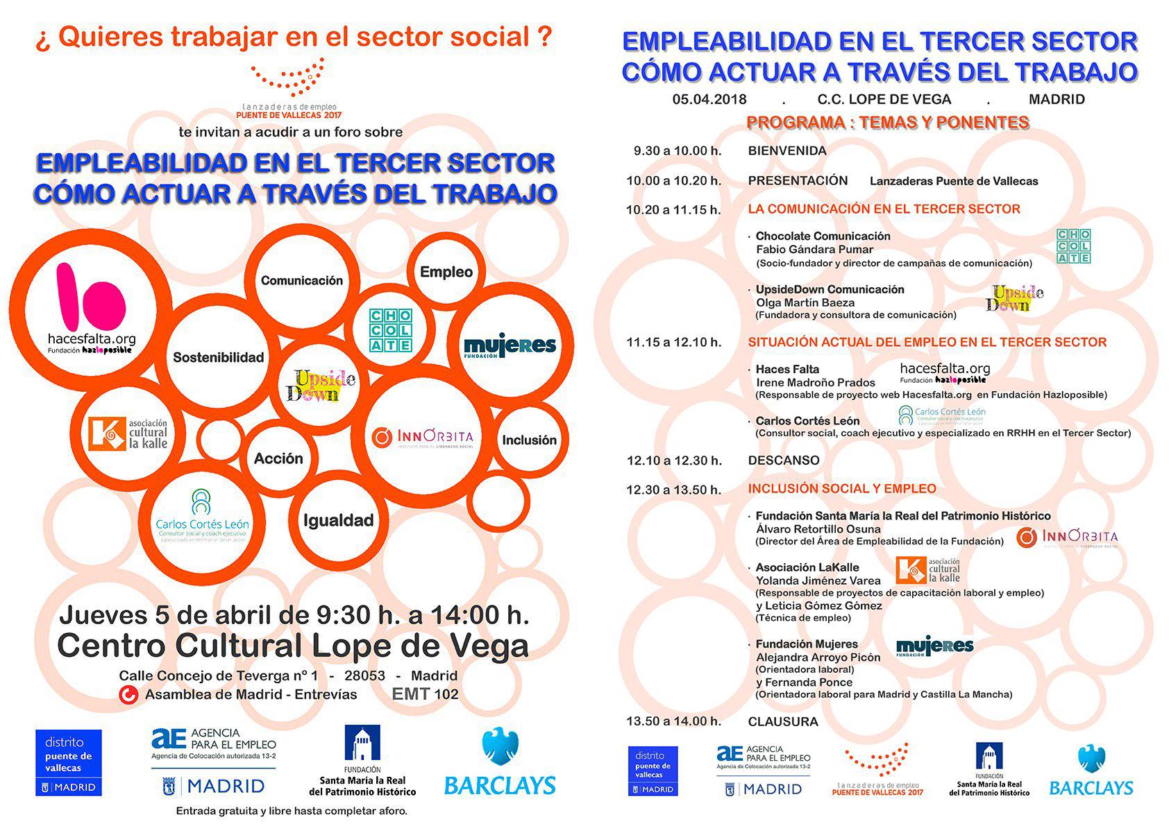 Programa: Temas y ponentes de la jornada