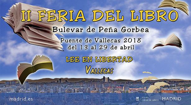 II Feria del libro en Puente de Vallecas - Del 13 al 29 de Abril