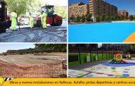 Obras, reparaciones y nuevas instalaciones en Vallecas: Operación Asfalto, pistas deportivas y centros escolares