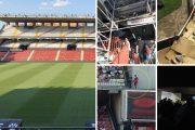 El Rayo Vallecano disputa su primer encuentro en el Estadio de Vallecas con deficiencias y en obras