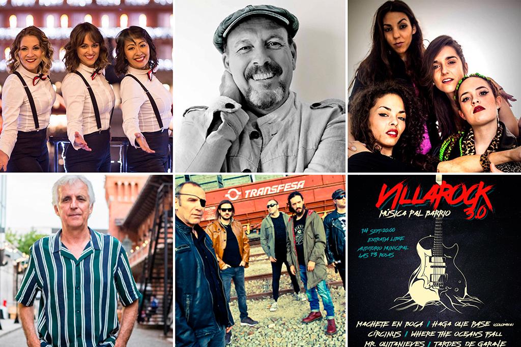 Damas Swing, Javier Ruibal, Machete en Boca, Kiko Veneno, Lou Garx y Sínkope y las bandas de Villarock