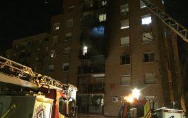 Varios heridos en un incendio de un inmueble de Entrevías