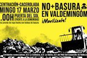 Concentración-Cacerolada 'NO+BASURA EN VALDEMINGÓMEZ' en el centro de la capital